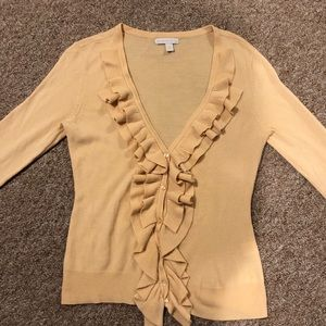 New York and Company Ruffle Cardigan